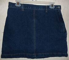 NWOT WOMENS / JUNIORS Calvin Klein Jeans DISTRESSED DARK BLUE JEAN SKIRT SIZE 11