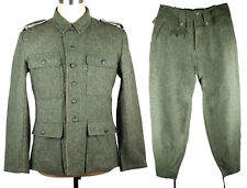 WWII GERMAN M43 WH EM FIELD-GREY WOOL UNIFORM JACKET AND TROUSERS SIZE XXL-33101