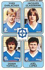 N°433 GLASSMANN / TOFFOLO FC.MULHOUSE VIGNETTE PANINI FOOTBALL 86 STICKER 1986