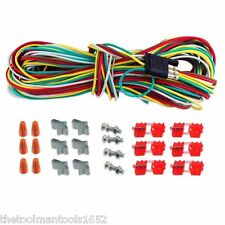 25' 4 WAY TRAILER WIRING CONNECTION KIT FLAT TRAILER LIGHT EXTENSION NEW