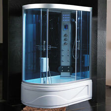 Cabina Idromassaggio 130x85 Box doccia CON Vasca Sauna Bagno Turco cromoterapia5