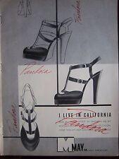 1948 Vintage May Co Los Angeles I Live California PANDORA Womens Shoes Ad