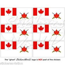 CANADA ARMY Ensign, Land Force Command Flag Mobile Cell Phone Mini Stickers x6