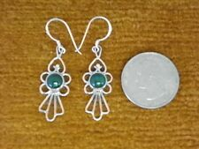 V9-5 Gorgeous Sterling Silver Tibetan Eearing with stone Hand Crafted In Nepal