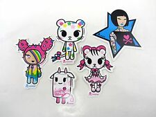 5 Lot TOKIDOKI Stickers  Star Tiger Bow Paletee Cat sANDY Color Strawberry Milk