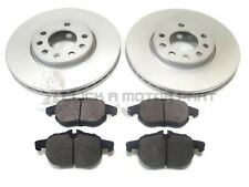 SAAB 9-3 93 2.0 T VECTOR 2003-2012 FRONT 2 BRAKE DISCS & PADS CHECK SIZE CHOICE