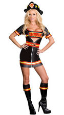 SMOKIN' HOT FIRE FIGHTER SEXY ADULT HALLOWEEN COSTUME WOMEN'S SIZE MEDIUM