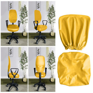 Waterproof PU Leather Stretch Rotating Chair Cover Slipcover Removable