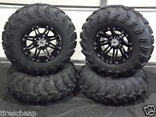 "25""  ITP MUD LITE ATV TIRE & STI HD3 BLK  WHEEL KIT LIFETIME WARRANTY  SRA"