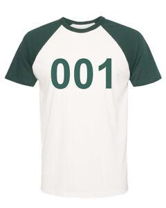 Squid Player Game Custom Numbers short sleeve Raglan Jersey T shirt 456 001 067