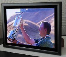 "Jordan Spieth US Open 2015 Golf Framed Canvas Photo Print Signed ""Great Gift"""