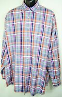 Peter MIllar Men's Size XXL L/S Button Down Shirt Multi color Plaid EUC