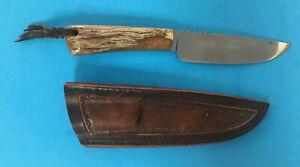 "Rucus Coetzee Knife 9"" ~ Full Tang Fixed Blade ~ Leather Sheath"