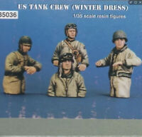 1:35 WW2 US TANK CREW Soldiers WINTER DRESS High Quality Resin Kit 4 Figures