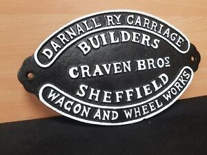 ** VINTAGE STYLE CAST IRON CARRIAGE BUILDERS  RAILWAY SIGN