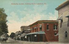Lakeland FL * Kentucky Ave. Looking North ca. 1908 * Polk Co.  Drug Store