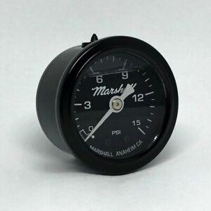 """Marshall 1.5"""" Direct Mount Filled Fuel Pressure Gauge Black Dial MSB00015"""