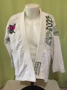 Moya Brand 025 Lifestyle Goods Youth White Jiu Jitsu Gi Jacket Size K4 BJJ