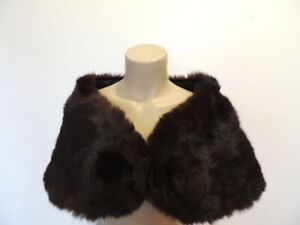 Vintage Fur Collar Gray Mink Fur Collar Luxurious Fur Piece Hollywood Glam Starlet Style Silver Grey Mink Collar with Satiny Lining