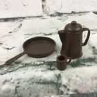 Marx Johnny West Best Of The West Cookware Pan Coffee Pot Cup   - Vintage