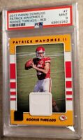 2017 PATRICK MAHOMES PANINI DONRUSS ROOKIE THREADS RED PSA 9💎GREAT INVESTMENT💲