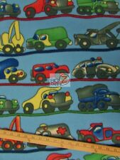 "CAR/TRUCK PRINT POLAR FLEECE FABRIC - Trucks - 60"" WIDTH SOLD BY THE YARD 281"