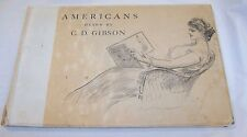 Antique 1900 Americans Drawn by C.D. Gibson Book Gibson Girl Prints Art