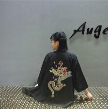 Unisex Embroidered Cardigan Kimono Harajuku Vintage Floral Bathrobe Blouse Tops