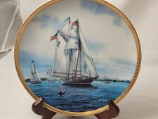"Hamilton America's Greatest Sailing Ships Collector's Plate ""Gertrude Thebaud"""