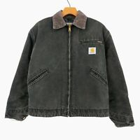 Vintage Carhartt Blanket Lined Detroit Canvas Chore Rugged Jacket Made USA Sz M