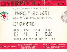 Leeds United Football FA Cup Fixture Tickets & Stubs