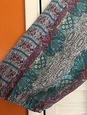 1X New Floral Tribal Blue Purple Tunic Peasant Top Blouse Vintage 14/16/ XL