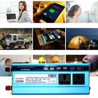 Portable 300W-2200W Car Power Inverter Watt DC 12V To AC 110V Converter Adapter