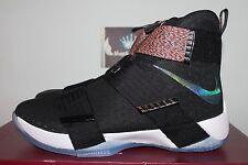 Nike LeBron Soldier 10 Unlimited Black/Cosmic Prpl-Hypr Jade 844374-085 Men's 11