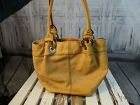 Tignanello purse handbag bag tote travel hobo tan brown shoulder