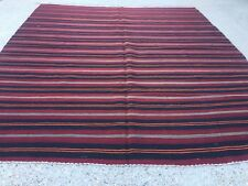 Antique Turkish Kilim Rug shabby vintage old wool country home Kelim 255x220 cm