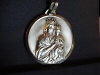 medaille religieuse Notre Dame Du Sacre Coeur 3 cm Signed JB  MR 067