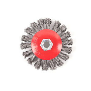 1Pcs Twist Knot Steel Wire Cup Wheel Brush Polishing Head Part for Angle Grinder