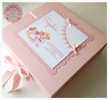 LARGE Personalised Keepsake Box, Memory Box. New Baby Girl Gift, Christening RH