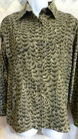 Drapers and Damons Petite PXS Olive Green Patterned Light Lined Blazer Jacket