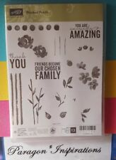 NEW Stampin Up PAINTED PETALS Photopolymer Stamps Flower Silhouette Watercolor