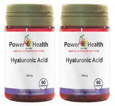 Power Health Hyaluronic Acid 100mg - 2 x 60 capsules TWIN PACK
