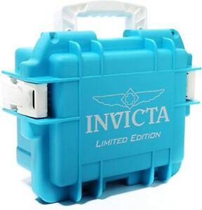 New Invicta 3 Slot Waterproof Dive Impact Watch Case Limited Edition Aqua Color