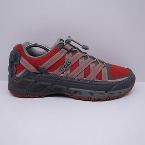Keen Men's Versatrail Hiking Shoes Magnet/Racing Red  Size US 8