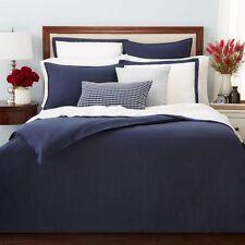 Oake Bedding 100% Linen KING Pillow Sham Navy Blue MSRP $115 D5127