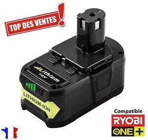 Batterie Remplacement pour Ryobi One + 18v 5ah Lithium P108 P107 P103 P104 LED