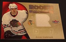 BRENT SEABROOK 2005-06 Fleer Ultra JERSEY Rookie UNIFORMITY  #RU-BS Blackhawks