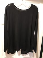 NWT Lucy Athletic Wear Gym Training Flow Mesh LS Open Back, Large, $59