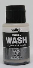 Vallejo #76516 Acrylic Model Wash Colours Grey 35ml Bottle