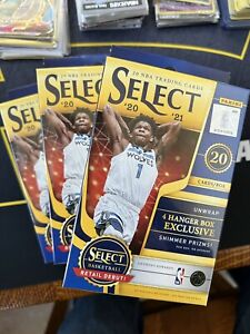 (3) 2020-21 Select Basketball NBA Hangers-New and Sealed Lot of 3 Lamelo Ball
